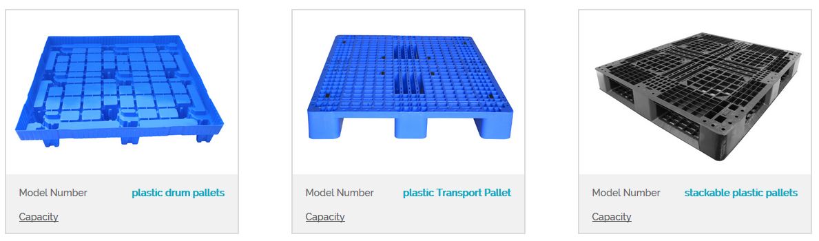 Plastic pallets with anti-slip structure