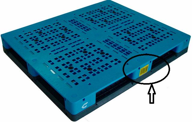 RFID plastic pallet