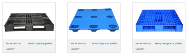 different types of plastic pallet